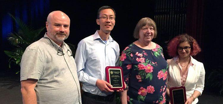 ASV President Andrew Pekosz, Junior Investigator Awardee Zongdi Feng, Ann Palmenberg, Junior Investigator Awardee Marta Gaglia