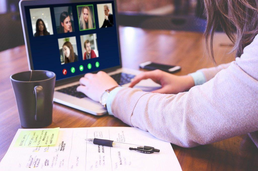 video conference, skype, webinar